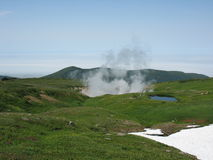 Het landschap van Kamchatka Stock Afbeeldingen