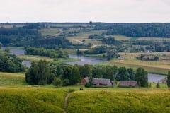 Het landschap van Kernave Royalty-vrije Stock Afbeeldingen