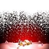 Het landschap van Kerstmis Royalty-vrije Stock Foto's
