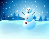 Het landschap van Kerstmis Stock Illustratie