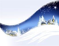 Het landschap van Kerstmis Royalty-vrije Stock Afbeeldingen