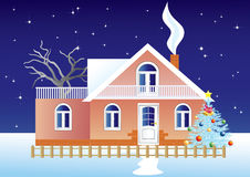 Het landschap van Kerstmis Royalty-vrije Stock Fotografie
