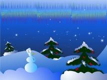 Het landschap van Kerstmis vector illustratie