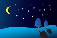 Het landschap van Kerstmis met sneeuw Royalty-vrije Stock Afbeelding
