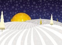 Het landschap van Kerstmis van de winter fairytale Stock Afbeelding