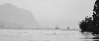 Het landschap van Kunmingsdianchi stock foto's