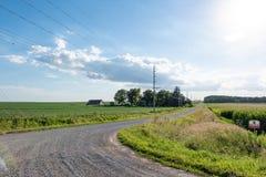 Het landschap van het land van Iowa stock fotografie