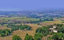 Het landschap van Languedoc stock fotografie