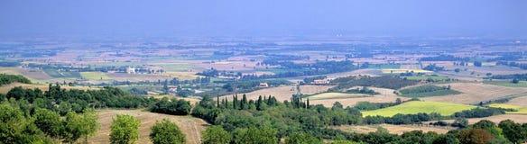 Het landschap van Languedoc stock afbeeldingen