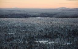 Het landschap van Lapland stock afbeelding