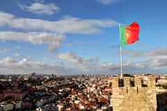Het landschap van Lissabon Stock Foto's