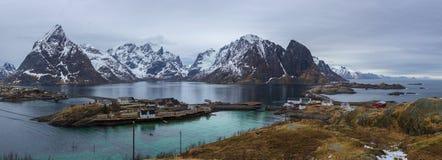 Het landschap van Lofoten Stock Foto's