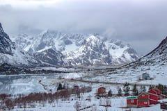 Het landschap van Lofoten Stock Afbeeldingen