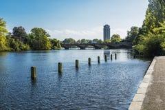 Het landschap van Londen van Hyde Park Royalty-vrije Stock Afbeeldingen