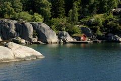 Het landschap van Lysefjord stock foto's