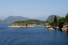 Het landschap van Lysefjord stock foto