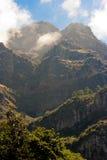 Het landschap van madera met bergen Stock Afbeelding