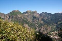 Het landschap van madera met bergen Royalty-vrije Stock Foto's