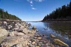 Het Landschap van Maine Stock Foto's