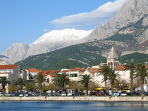 Het landschap van Makarska Stock Foto