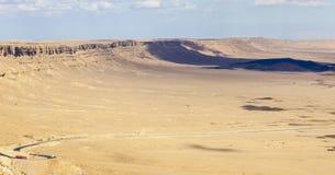 Het landschap van Makhteshramon De Woestijn van Negev israël Royalty-vrije Stock Fotografie