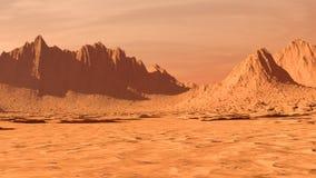 Het Landschap van Mars, Panoramisch Panorama, Banner royalty-vrije stock afbeeldingen
