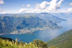 Het landschap van meercomo, Italië Stock Foto's