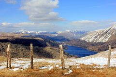 Het landschap van het meerdistrict Stock Afbeelding