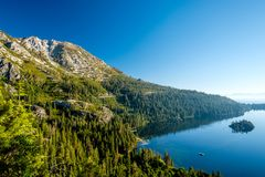 Het landschap van meertahoe - Californië, de V.S. Stock Foto's