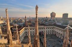 Het landschap van Milaan van Duomo Royalty-vrije Stock Fotografie