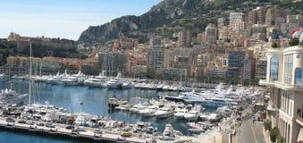 Het landschap van Monaco Monte Carlo Stock Fotografie