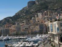 Het landschap van Monaco Monte Carlo Stock Foto