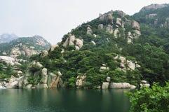 Het landschap van Moutain van Laoshan Royalty-vrije Stock Foto's