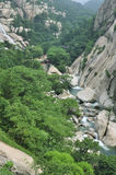 Het landschap van Moutain van Laoshan Stock Foto's