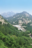 Het landschap van Moutain van Laoshan Stock Afbeelding