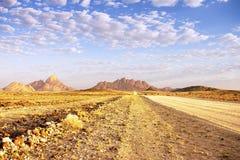 Het landschap van Namibië Spitzkoppe Royalty-vrije Stock Foto's