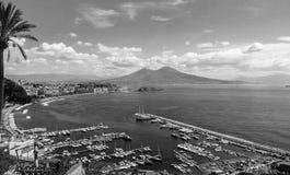 Het landschap van Napels van Posillipo-heuvel Stock Afbeelding