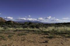 Het landschap van New Mexico op een zonnige dag Stock Afbeelding