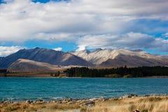 Het landschap van Nieuw Zeeland Stock Foto
