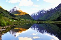 Het landschap van Noorwegen Stock Afbeeldingen