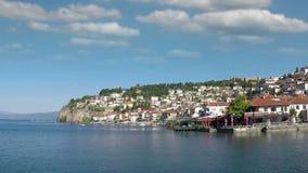 Het landschap van Ohridmacedonië stock videobeelden