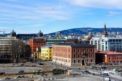 Het landschap van Oslo Stock Foto