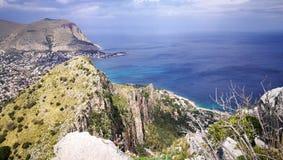 Het landschap van Palermo en Mondello- Royalty-vrije Stock Foto's