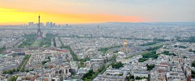 Het Landschap van Parijs Stock Afbeelding