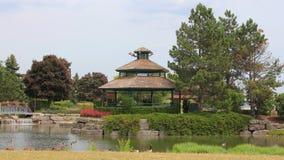 Het Landschap van parkgazebo Royalty-vrije Stock Fotografie