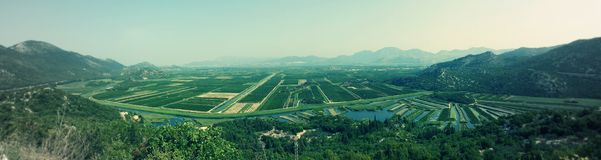Het landschap van Plocemeren in Kroatië Stock Afbeelding