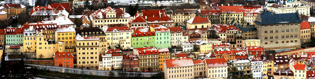 Het landschap van Praag Stock Foto