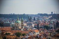 Het landschap van Praag van de stad Stock Afbeeldingen