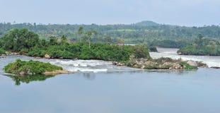 Het landschap van riviernijl dichtbij Jinja in Afrika Stock Afbeeldingen