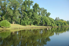 Het landschap van Rriverbank Royalty-vrije Stock Foto's